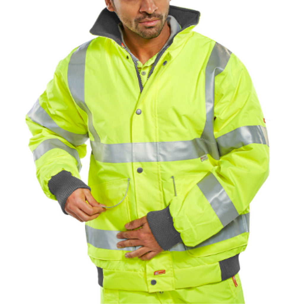 Yellow Hi-Viz Superior Bomber Jacket