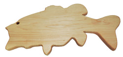 Largemouth Bass Shaped Cutting Board - Maple Wood - In stock ready to ship
