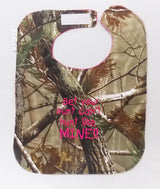 Bet Your Aunt Can't hunt Like Mine - Camo Hunting Baby Bib - Girls - Hot Pink Lettering