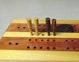 Cribbage Pegs - Driftwood and Maple - 4 pcs.