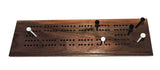Walnut Cribbage Board - Walnut Wood - Two Player - with storage bag for Cards, pegs, and instructions