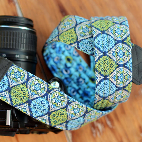 Marley Green Blue Modern Camera Strap