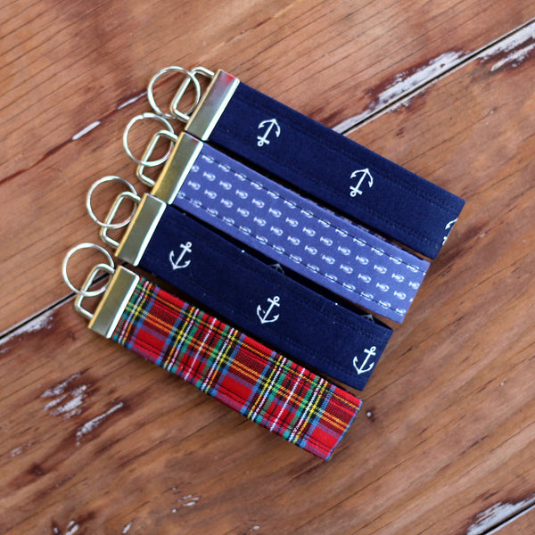 Ventura Red Blue Wristlet Key Fobs