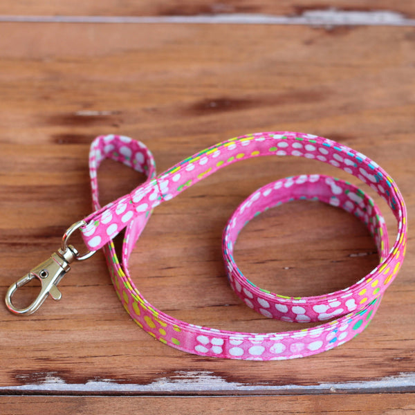 Clipper Dotty Batik Lanyard