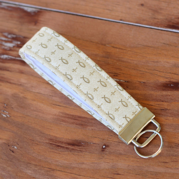 Ventura Crosses and Fishes Wristlet Key Fob