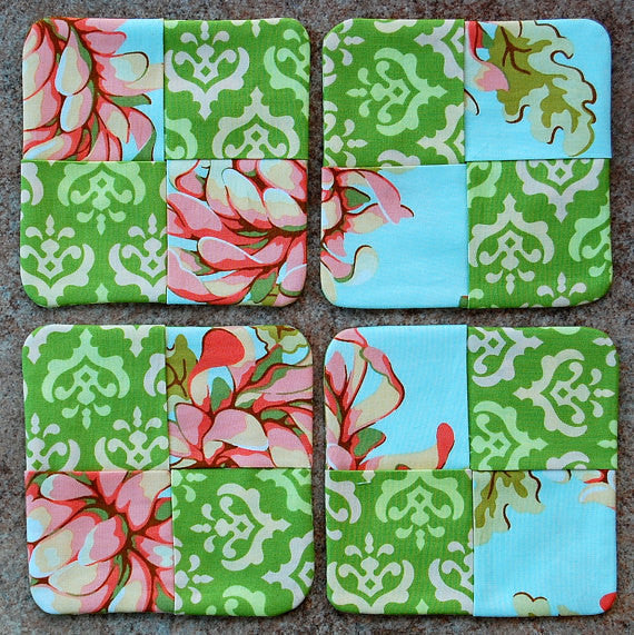 SALE Save 30% - Subic Bay Modern Fabric Coasters
