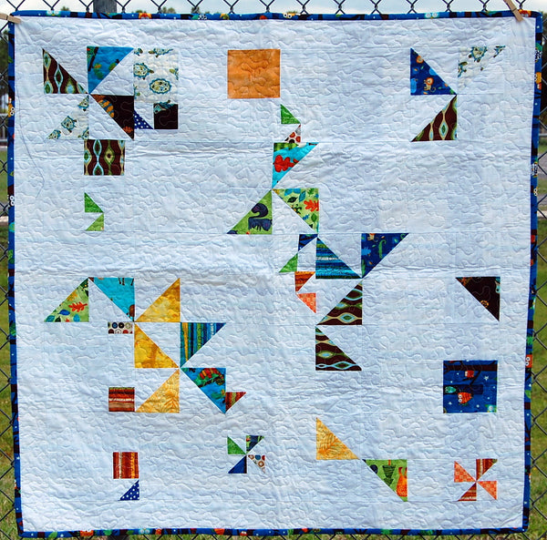 Angles Modern Baby Quilt