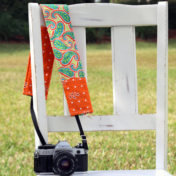 Scapa Paisley Camera Strap Cover