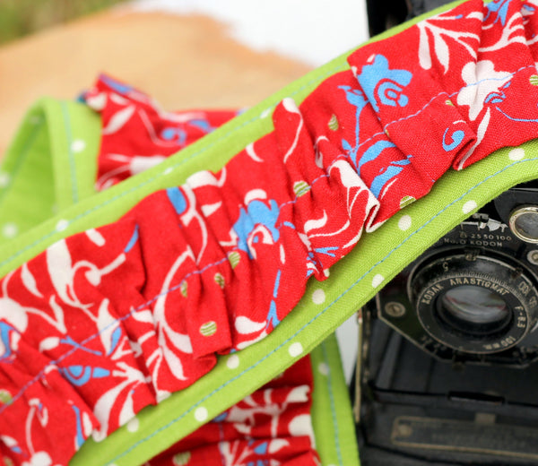 Sydney Red Camera Strap Cover