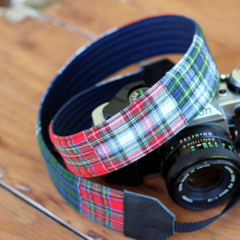 Hamilton Plaid Guys Camera Strap
