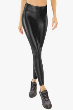 Lustrous High Rise Leggings: Black
