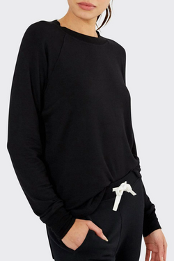 Warm Up Fleece Sweatshirt: Black