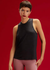 Toni Tank: Dark Heather Grey