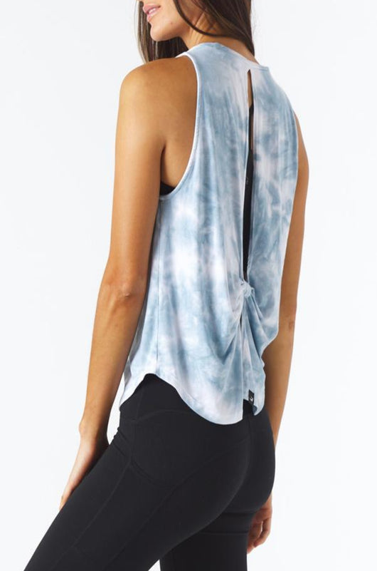 Electric Tank: French Blue Tie Dye