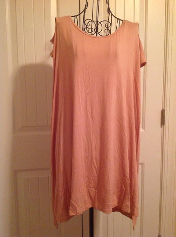 Peach Cold Shoulder Tunic