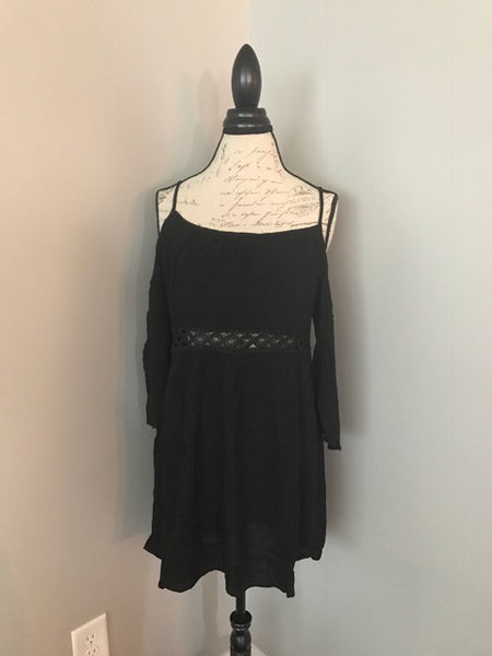 SMALL Black Cold Shoulder Dress