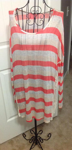 LARGE Coral Stripe