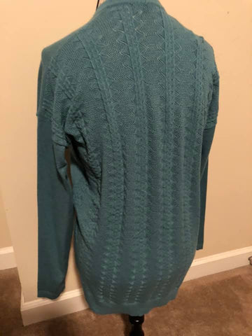 LARGE Dusty Teal Cardigan