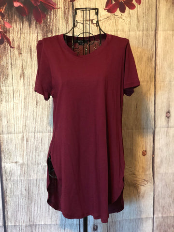 SMALL Burgundy Tunic