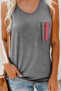 Serape Pocket Tank size XL