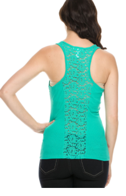 Lace Ribbed Tank
