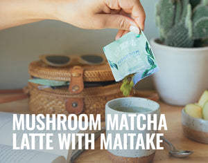 Introducing the Mushroom Matcha Latte with Maitake!