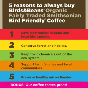 organic bird friendly coffee