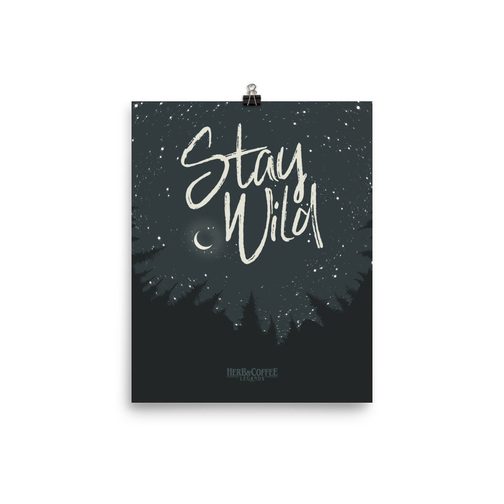 "Premium Archival Luster Photo Print ""Stay Wild"" Artwork by Chris Kitzmiller"