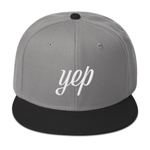 "High Profile Snapback Hat ""Yep"""