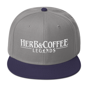 "High Profile Snapback Hat ""Herb & Coffee Legends"""