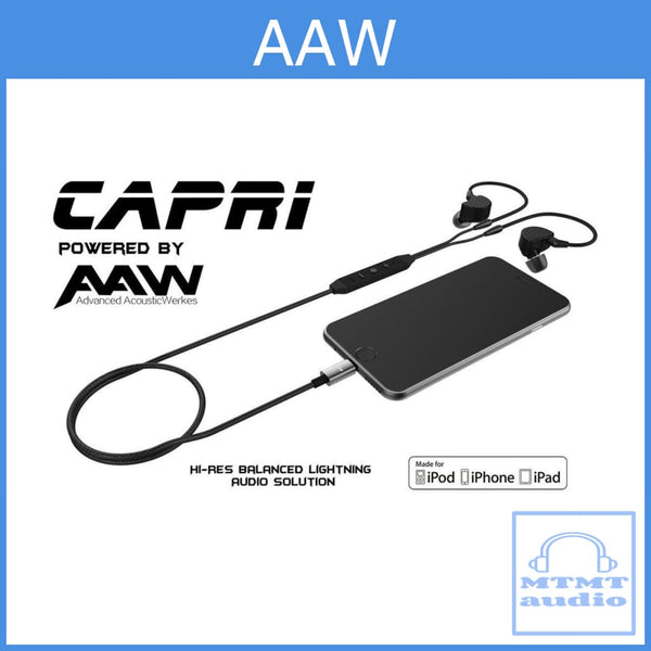 Aaw Capri Lightning Cable With Microphone Dac Remote For Se Earphones Mmcx Upgrade