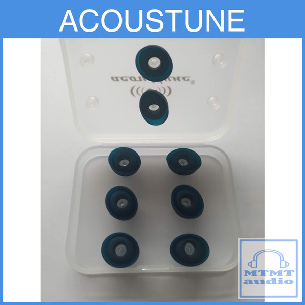 Acoustune Aet06A S+ M+ Double Flange Eartips 4 Pairs With Case Eartip