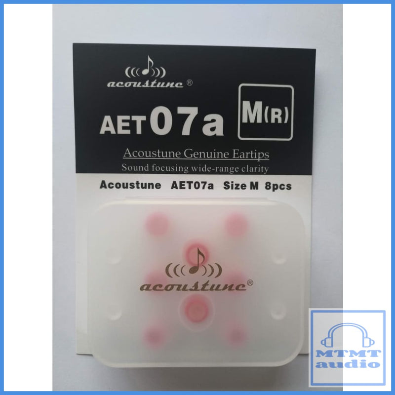 Acoustune Aet07A S M L Eartips 4 Pairs With Case Medium M(R) Red (4 Pairs Case) Eartip