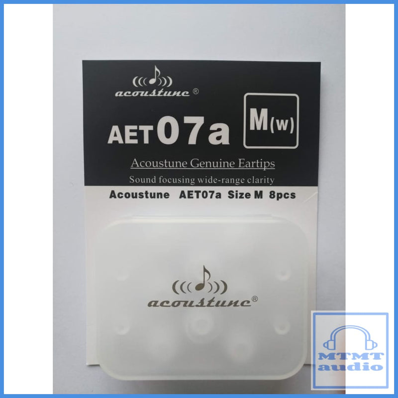 Acoustune Aet07A S M L Eartips 4 Pairs With Case Medium M(W) White (4 Pairs Case) Eartip