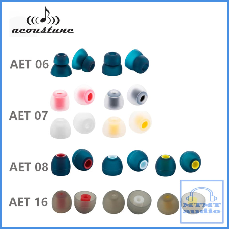 Acoustune Aet08A S M L Eartips 4 Pairs With Case Eartip
