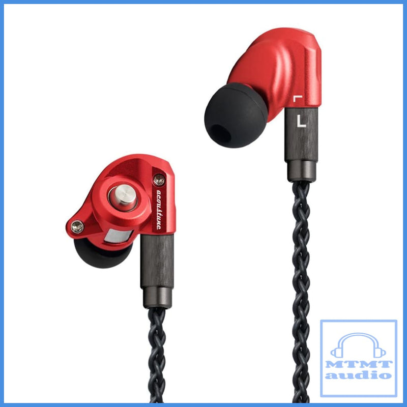 Acoustune Hs1300Ss In-Ear Iem Earphone With 3.5Mm 8-Wire Ofc Cable Red
