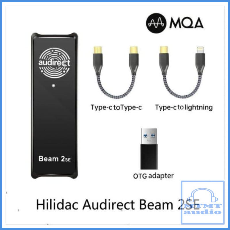 Audirect Beam 2Se Mqa Dsd Mini-Dac Adapter Amplifier For Iphone Android Smartphone With 3.5Mm Plug