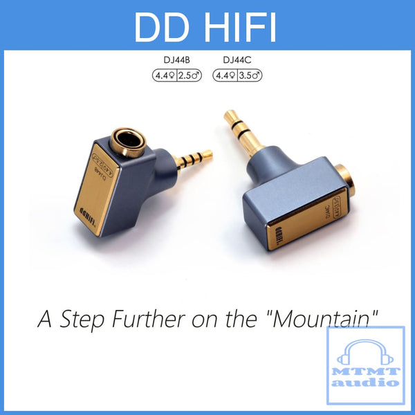 Dd Hifi Dj44B Dj44C Mark Ii Adapter For 2.5Mm 3.5Mm Male To 4.4Mm Female Balanced