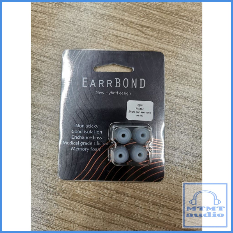Earrbond Hybrid Silicon With Foam Inside Eartips 2 Pairs For Shure Westone Esw 3Mm Diameter -