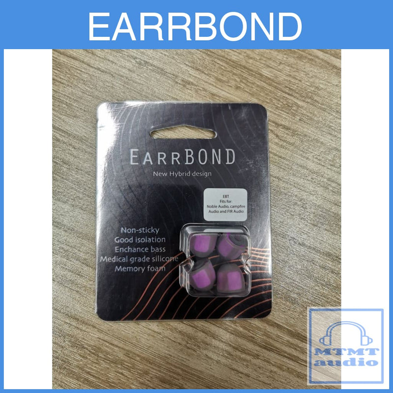 Earrbond Hybrid Silicon With Foam Inside Eartips 2 Pairs For Sony Campfire Fender Jvc Ebt 4.5Mm
