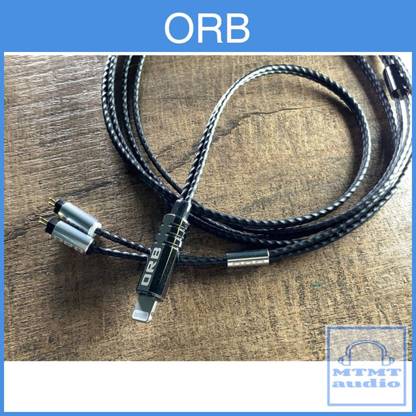 Orb Clear Force Ultimate Lightning Cable For Iphone With Mmcx Cm Iem Headphone Upgrade