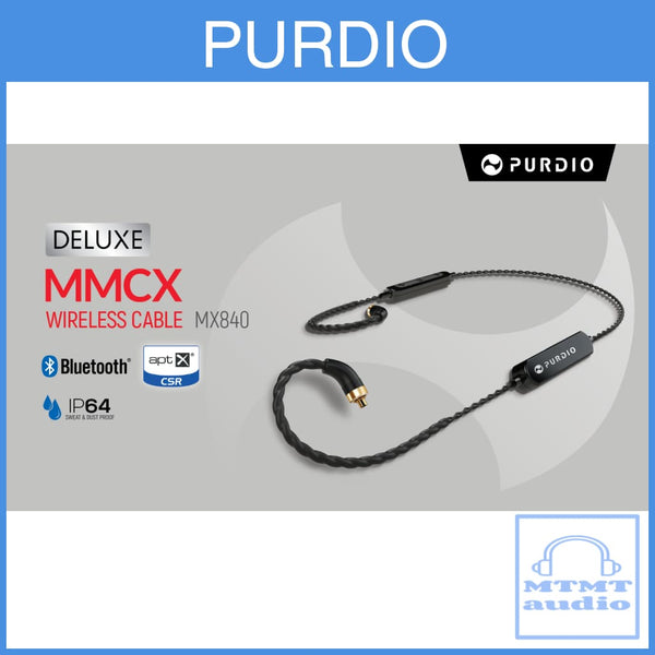Purdio Deluxe Mx840 Wireless Bluetooth Cable For Mmcx Upgrade Cable