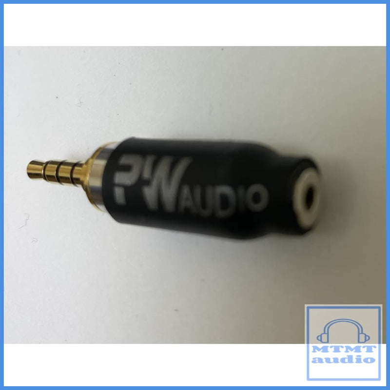 Pw Audio 2.5Mm Female To 3.5Mm Trrs Male Adapter
