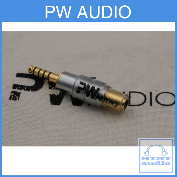 Pw Audio 2.5Mm Female To 4.4Mm Male Adapter Silver Edition For Sony Nw-Wm1A Nw-Wm1Z
