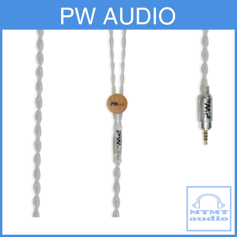 Pw Audio Blackicon Series Single Crystal Silver Headphone Upgrade Cable