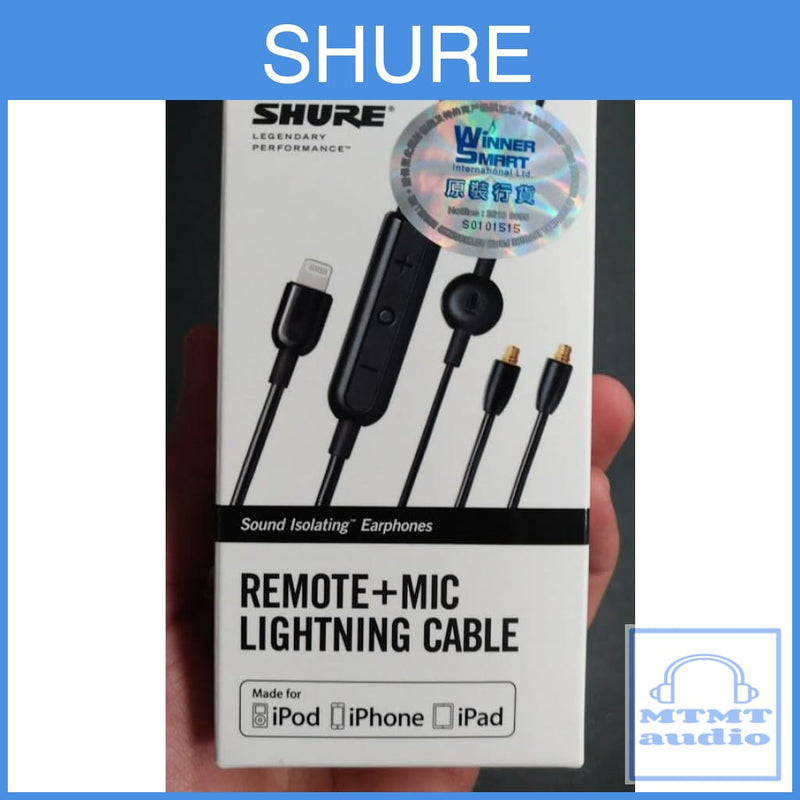Shure Rmceltg Remote + Mic Cable For Se Earphones Mmcx Lightning Upgrade