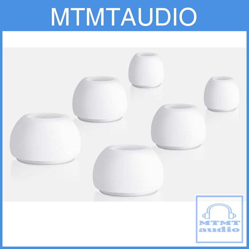 MTMTaudio White Silicon Eartips For Apple Airpods Pro True Wireless Earphone Eartip