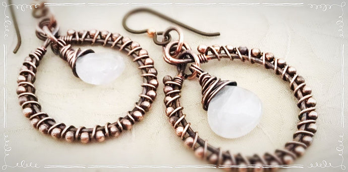 Wire Wrap Hoop Earring Tutorial
