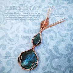 Double Labradorite Pendant Tutorial