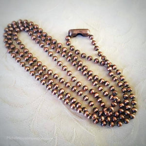 Copper Bead Chain With Connector Copper Ball Chain Michelle Louise Inspirations